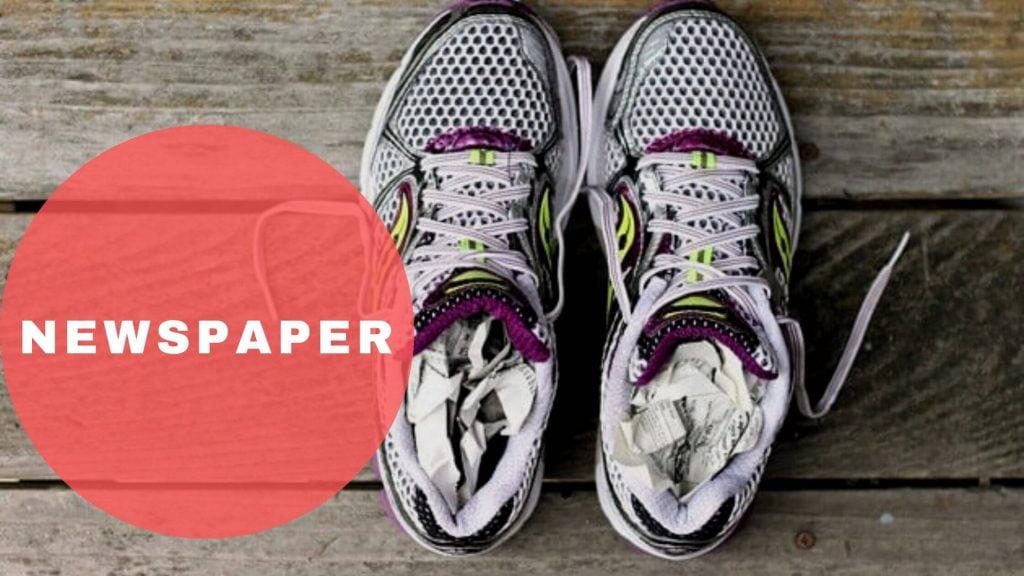 Newspaper Best Way To Dry Sneakers