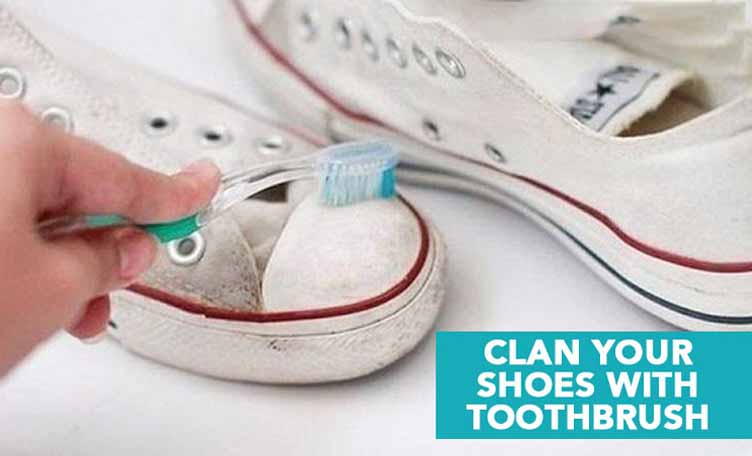 clean by toothbrush