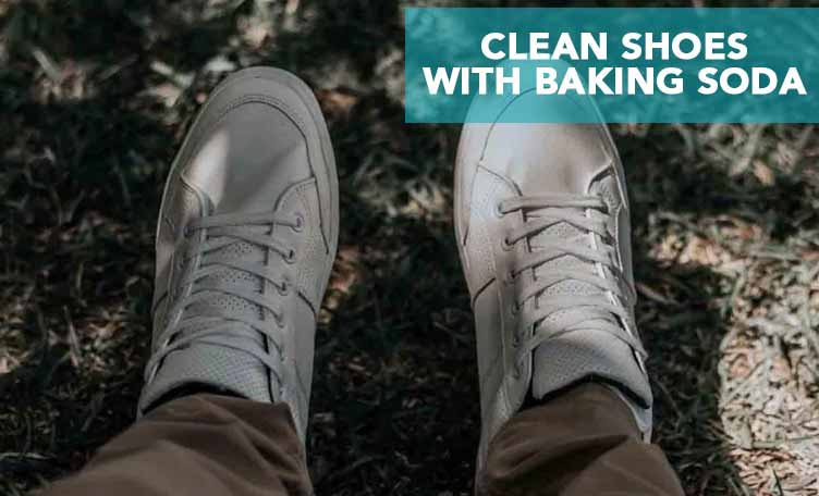 clean shoes with soda